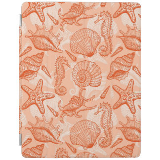Sea hand drawn pattern iPad cover