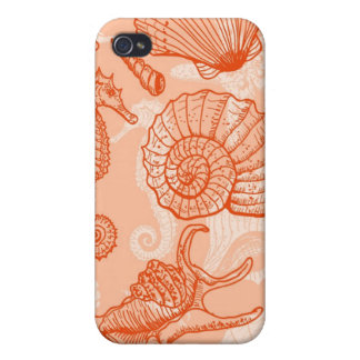 Sea hand drawn pattern iPhone 4 cases