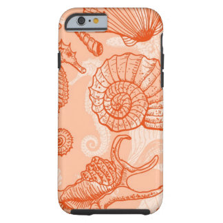 Sea hand drawn pattern tough iPhone 6 case