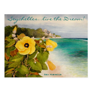 Sea Hibiscus Postcard