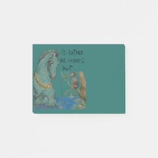 Sea Horse And Fishing Bird Whimsy Reminder Post-it Notes