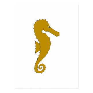 Sea Horse. Brown. Postcard