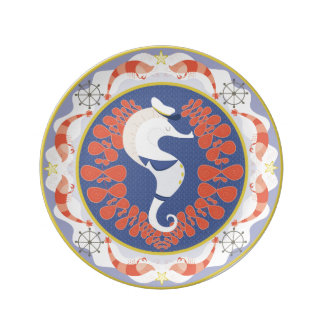 Sea Horse Captain Plate