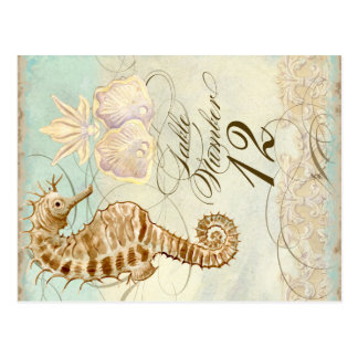 Sea Horse Coastal Beach - Table Number Postcard