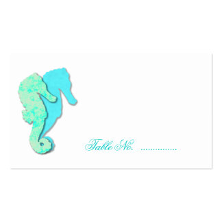 Sea Horse Couple Escort Table Seating Cards Business Card Templates