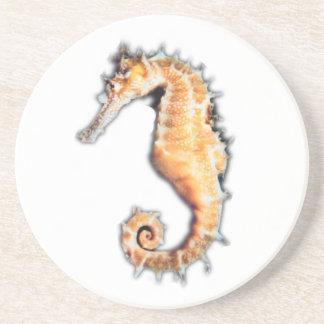 Sea horse drink coasters