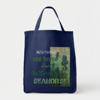 Sea Horse grocery bag