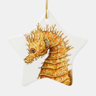 Sea horse Hippocampus hippocampus Christmas Ornament