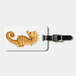 Sea horse Hippocampus hippocampus Luggage Tag