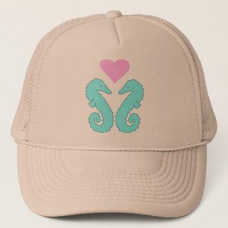 sea horse love trucker hat