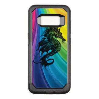 Sea Horse Silhouette on Swirling Rainbow OtterBox Commuter Samsung Galaxy S8 Case