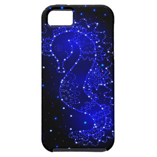 sea horse swims in lights iPhone 5 case