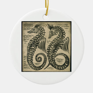 Sea-Horse (w/c on paper) Christmas Ornament