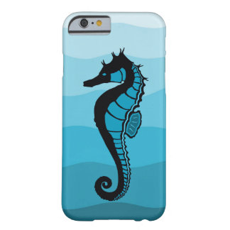 Sea horse, Waves of  Aqua, Ocean blue print Barely There iPhone 6 Case