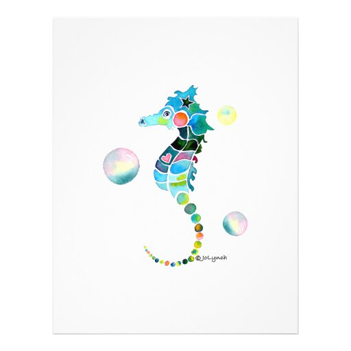Sea Horse with Bubbles Flyer