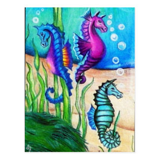 Sea Horses Collection Postcard
