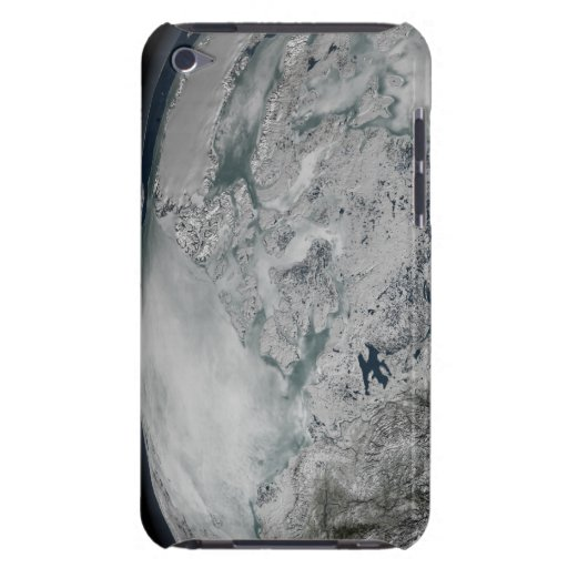 Sea ice above North America Barely There iPod Covers