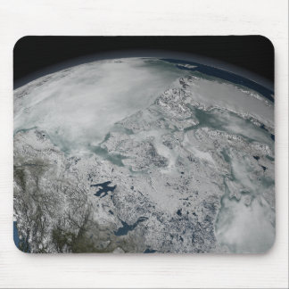 Sea ice above North America Mouse Mat