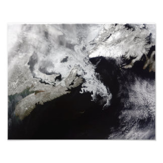Sea ice fills the Gulf of St Lawrence Photo Print