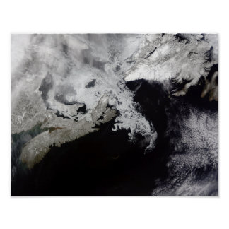 Sea ice fills the Gulf of St Lawrence Poster