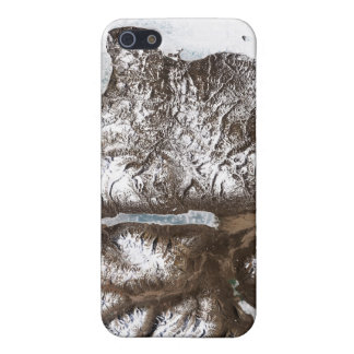 Sea ice lines the shoreline in eastern Greenlan iPhone 5/5S Case