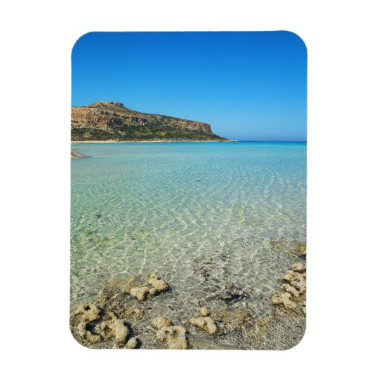 Sea impression at Cape Tigani at Balos Bay - Rectangular Photo Magnet