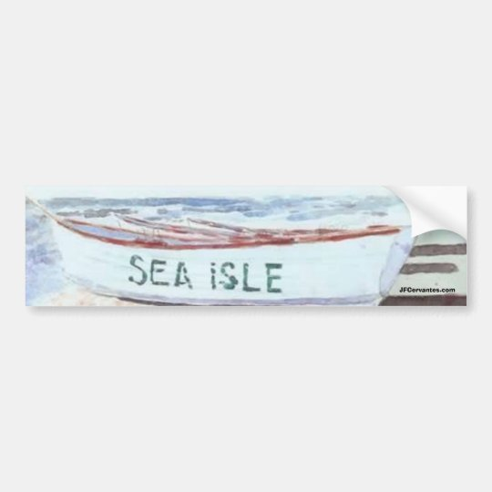 Sea Isle City Lifeguard Boat Bumper Sticker