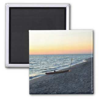 Sea Kayak On Beach Sand Captiva Island Magnet