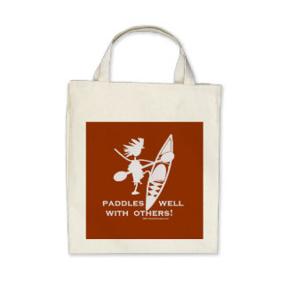 Sea Kayak Paddles Well White Tote Bags