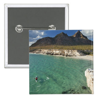 Sea kayaker on the Gulf of California at Isla 15 Cm Square Badge