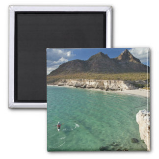 Sea kayaker on the Gulf of California at Isla Refrigerator Magnet
