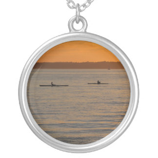 Sea Kayaks Round Pendant Necklace