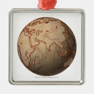 Sea Level Map Ornament