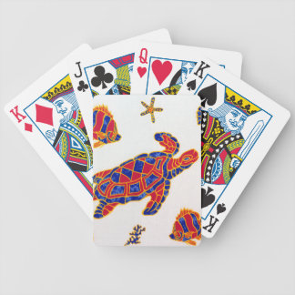 Sea life bicycle playing cards