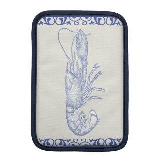 Sea Life Blue Lobster on Cream iPad Mini Sleeve