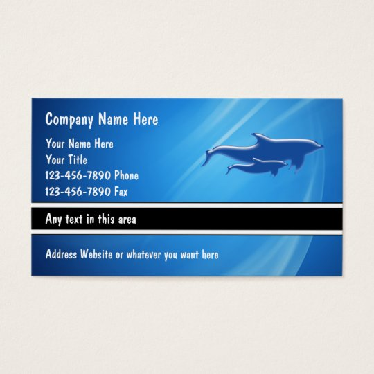 Sea Life Business Cards