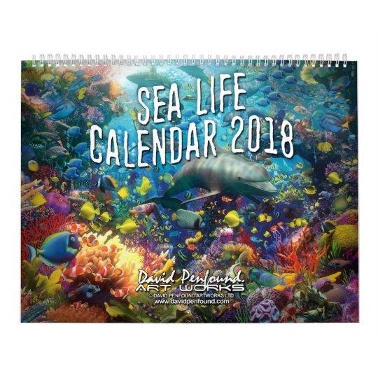 Sea Life Calendar 2018