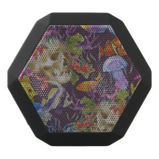 Sea Life Grunge Pattern Black Bluetooth Speaker