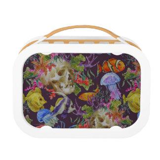 Sea Life Grunge Pattern Lunch Box