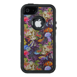 Sea Life Grunge Pattern OtterBox Defender iPhone Case