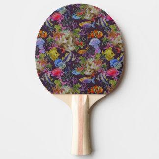 Sea Life Grunge Pattern Ping Pong Paddle
