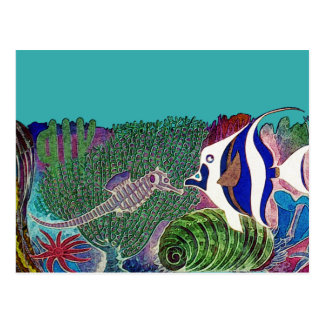 Sea Life in the Reef Design Postcard