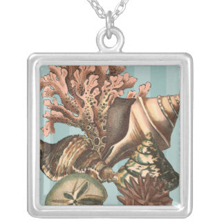 Sea Life Silhouette Silver Plated Necklace