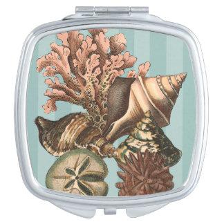 Sea Life Silhouette Travel Mirror