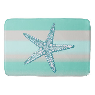 Sea Life Starfish Nautical Bath Mats