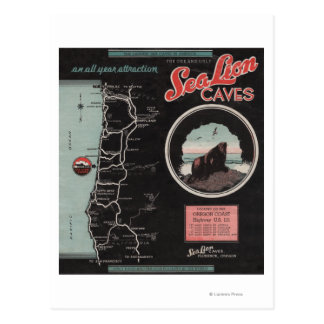 Sea Lion Caves, Florence, Oregon Postcard