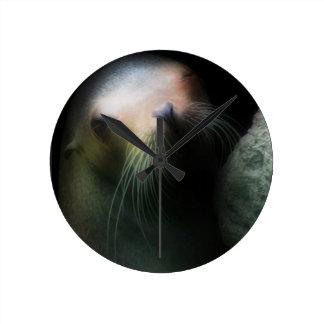 Sea lion Design Round Clock
