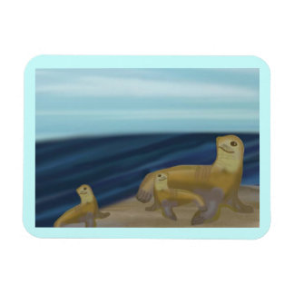 Sea Lion Family Premium Magnet