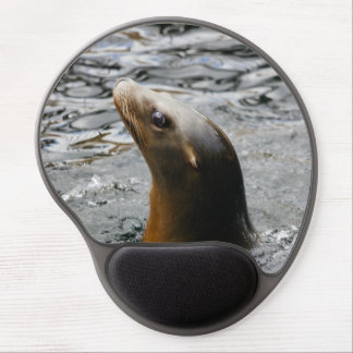 Sea Lion In The Water - Animal Photography Gel Mouse Pad