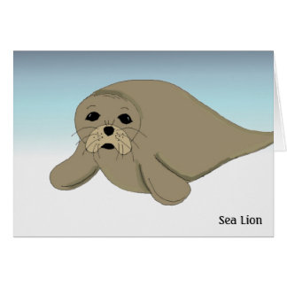 Sea Lion Note Card